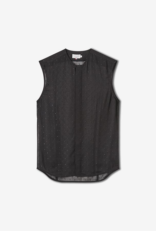 Chemise noire transparente MISHA - LILAR Paris