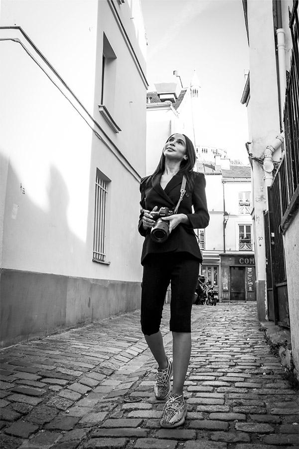 Tailleurs sur-mesure Femme LILAR Paris - Sandrine Rocher Derichebourg créatrice de mode - Rue Saint-Honoré Paris